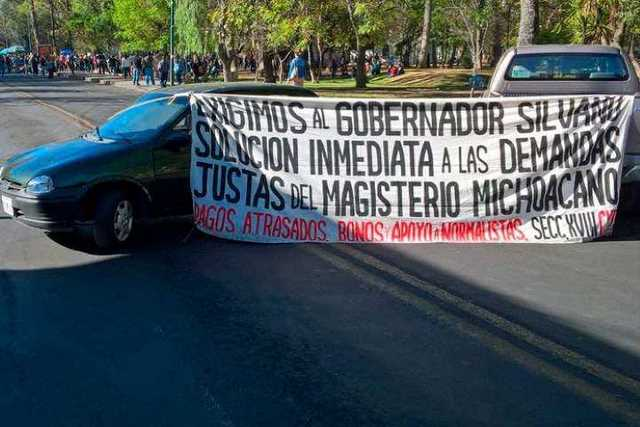 manifestacion-CNTE-Finanzas-Morelia