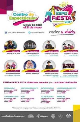 Calendario Centro de Espectaculos ExpoFiesta2017