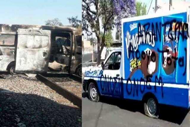 manifestacion-normalistas-incendio-vehiculo