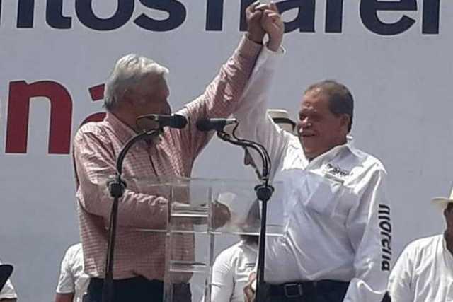 AMLO y Eliseo Delgado Sanchez Buenavista