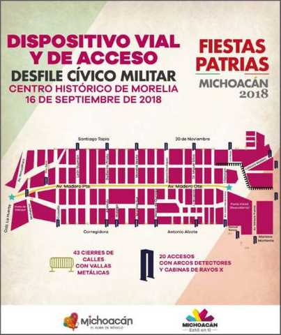 dispositivo vial Fiestas Patrias desfile