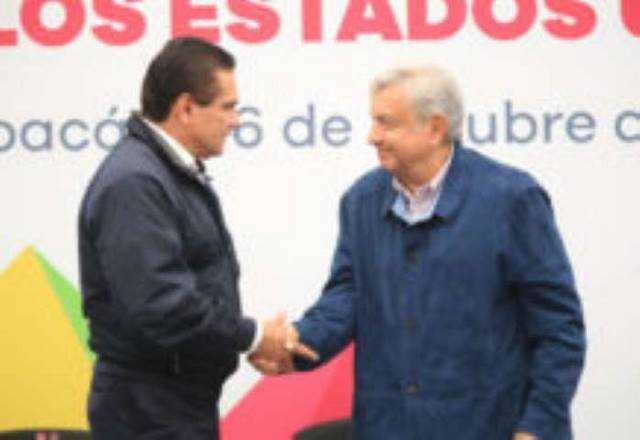 Silvano Aureoles y AMLO Andres Manuel Lopez Obrador