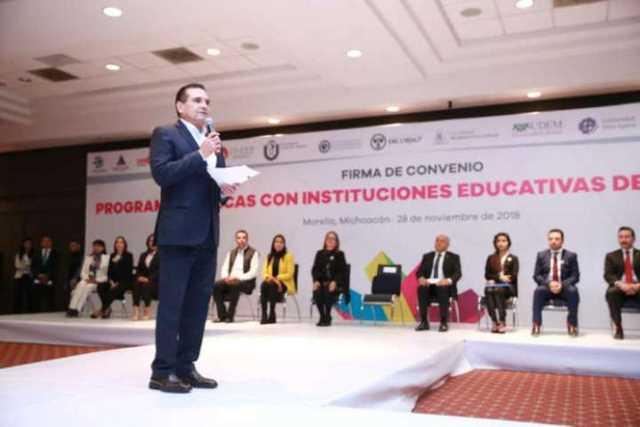 Silvano Aureoles educacion