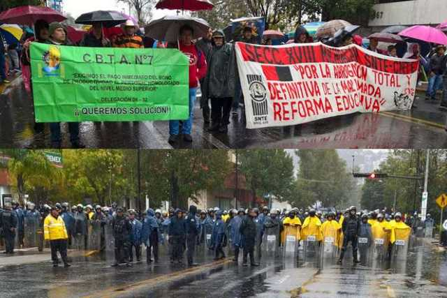 protesta CNTE granaderos
