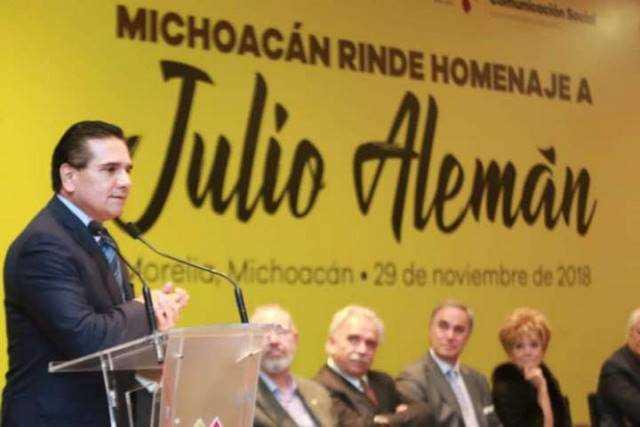 1 Silvano Aureoles homenaje Julio Aleman
