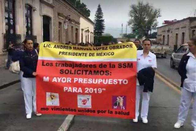 protesta sector salud Morelia
